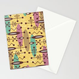 Mid Century Modern Radioactive Surfer 276 Stationery Cards