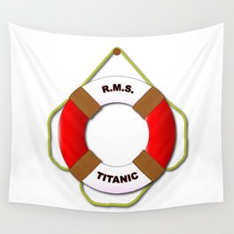 RMS Lifebelt Wall Tapestry