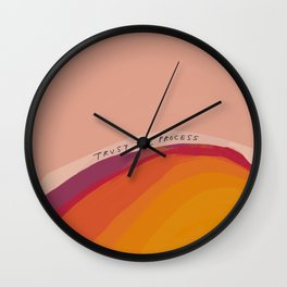 Trust The Process Wall Clock