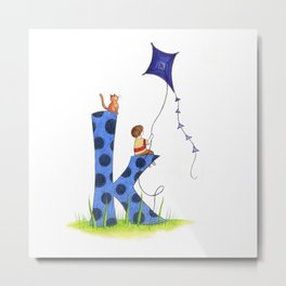 k is for kite Metal Print