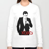 chuck Long Sleeve T-shirts featuring Chuck Bass by kingkyleramos