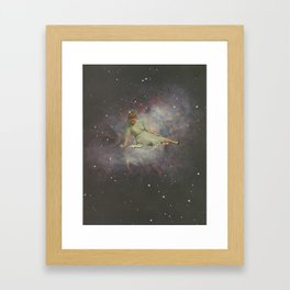 Time to curl up with a good book Framed Art Print