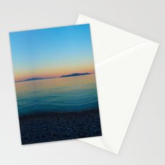 Sunset Greek Island Stationery Cards
