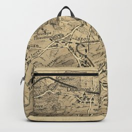 Vintage Military Print - Map of the Western Front of World War I north of Verdun (1917) Backpack