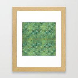 Golden Embossed Celtic Pattern on teal wood Framed Art Print