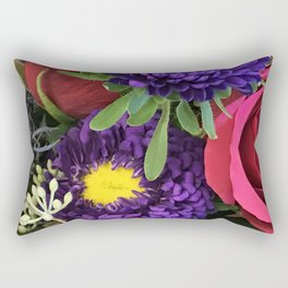 A Happy Bunch Of Colorful Flowers Rectangular Pillow