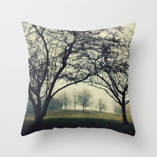 Embracing the Distance Throw Pillow