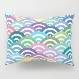 Scales-Multicolored Pillow Sham