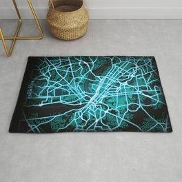 Richmond, VA, USA, Blue, White, Neon, Glow, City, Map Rug