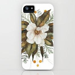 Magnolia Bouquet iPhone Case