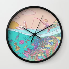 Busy underwater Wall Clock