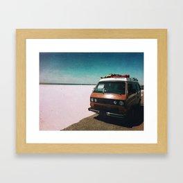 Beached Van Framed Art Print