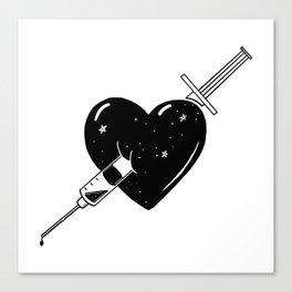 Hook on love Canvas Print