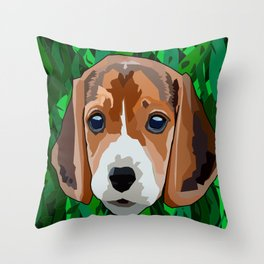 Spotted dog Throw Pillow