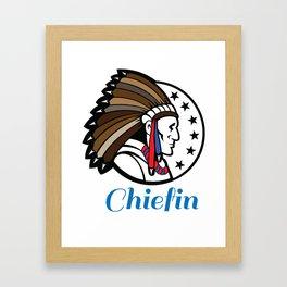 Chiefin Framed Art Print