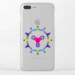 Fidget Spinner Design version 1 Clear iPhone Case