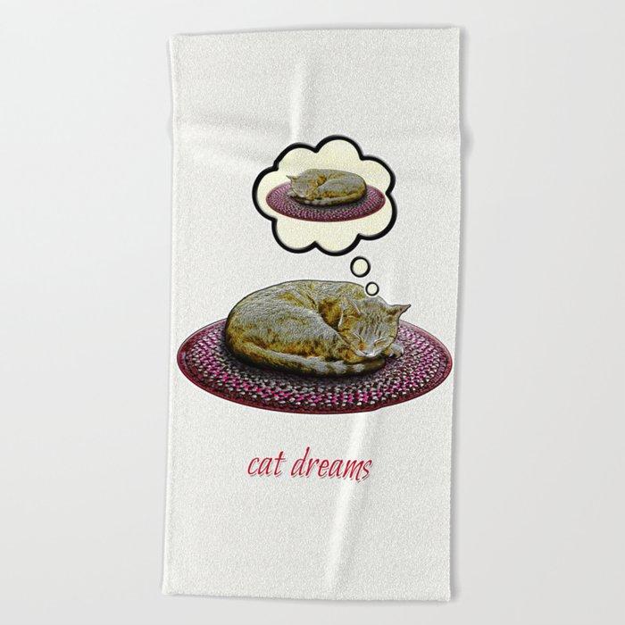 Cat Dreams Beach Towel