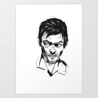 daryl Art Prints featuring Daryl by Giorgia Ruggeri
