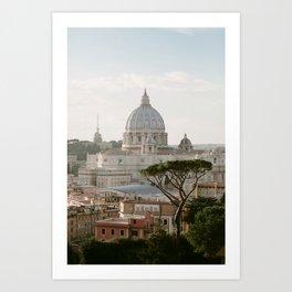 St. Peter's Basilica at Sunset Art Print