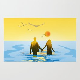 Together to Infinity II (Sunset) Rug