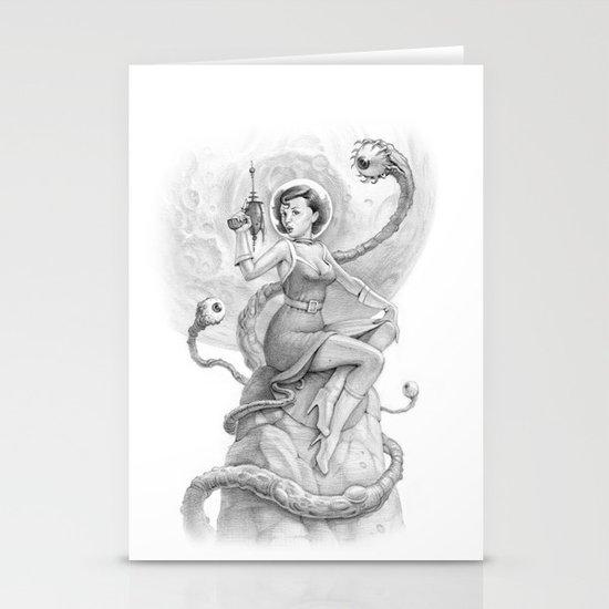 Astro Babe B&W Stationery Cards