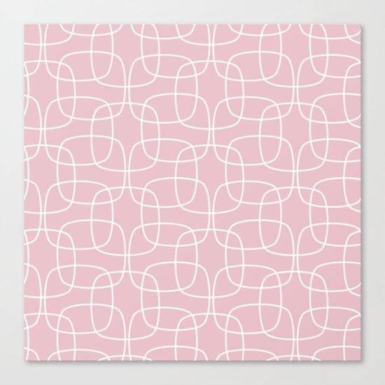 Square Pattern Pink Canvas Print