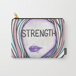 """Words Within: """"Strength"""" Carry-All Pouch"""
