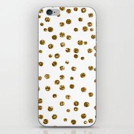 Gold Glitter Confetti iPhone Skin