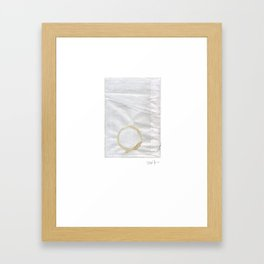 Coffee stain on envelope,  Sunday afternoon Framed Art Print