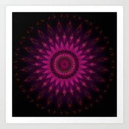 Stain glass Mandala Art Print