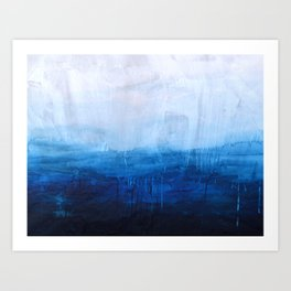 All good things are wild and free - Ocean Ombre Painting Art Print
