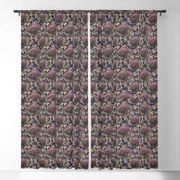 Protea And Wattle Seamless Pattern  Blackout Curtain
