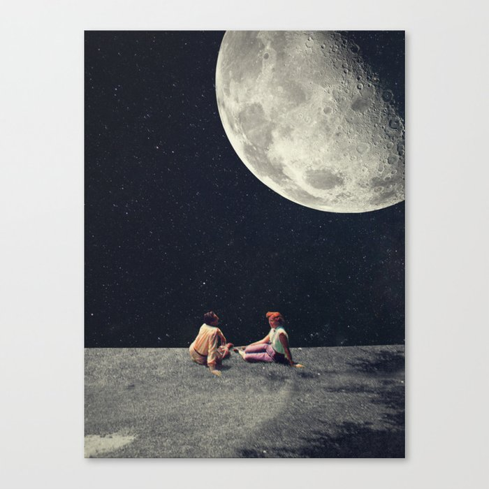 I Gave You the Moon for a Smile Canvas Print