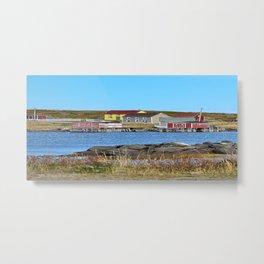 village on Fogo Island,NL Metal Print