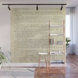 Jane Eyre, Mr. Rochester Proposal by Charlotte Bronte Wall Mural