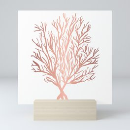 Rose Gold Seaweed Mini Art Print