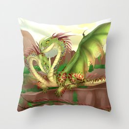 Zippleback httyd barf and belch Throw Pillow