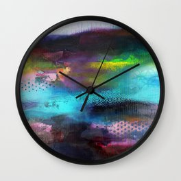 Aurore Boreal 'série Footprint' Wall Clock