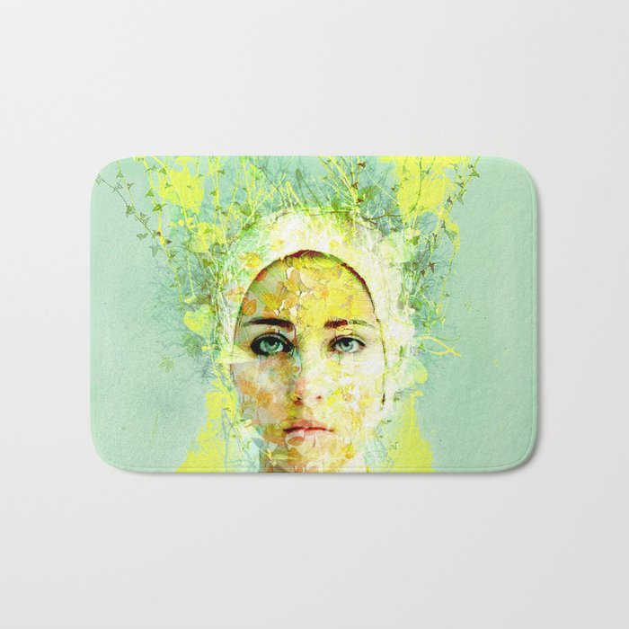 floral woman Bath Mat
