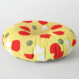 Cool fun pizza pepperoni mushroom Floor Pillow