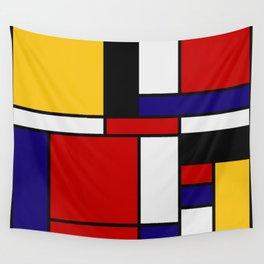 Mondrian De Stijl Art Movement Wall Tapestry