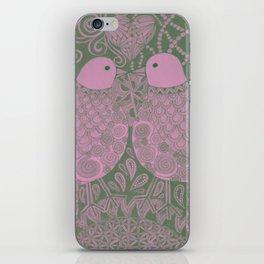 Purple Love Birds iPhone Skin