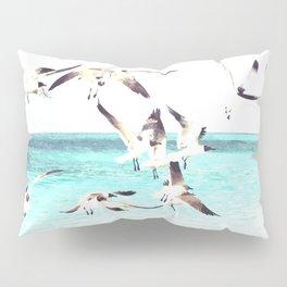 Seagulls Illustration Pillow Sham
