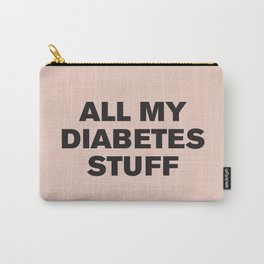 All My Diabetes Stuff (Black on Pink) Carry-All Pouch