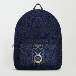 Black Retro Camera Backpack
