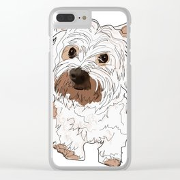 Lolo, West Highland Terrier Clear iPhone Case