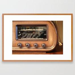 Never stop the radio Framed Art Print