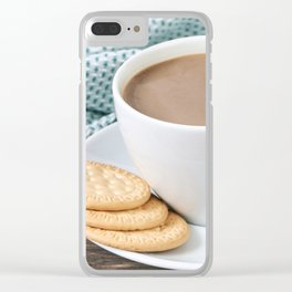 Coffee with milk and cookies Clear iPhone Case