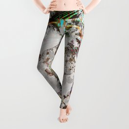 circled partitions Leggings