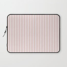 Small Camellia Pink and White Mattress Ticking Stripes Laptop Sleeve